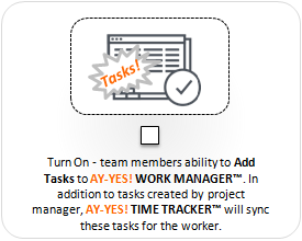 AY-YES! Time Tracker™ Add Project Tasks