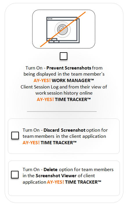 AY-YES! Time Tracker™ Screenshot View Control