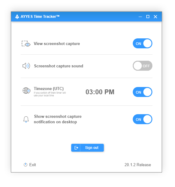 AYYES TIME TRACKER™ - Project Manager - Settings